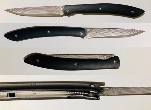 "COUTEAU ARTISANAL PLIANT DE TAKESHI SAJI - ""STEAK KNIFE"""