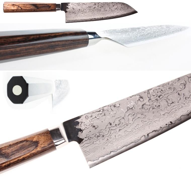 couteau japonais de cuisine hana damascus hsps santoku 16 5 cm. Black Bedroom Furniture Sets. Home Design Ideas