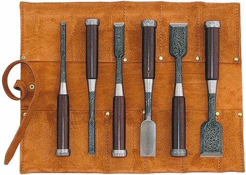 trousse 6 ciseaux bois japonais tasa mokume nomi. Black Bedroom Furniture Sets. Home Design Ideas
