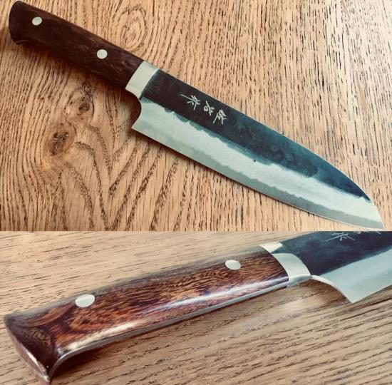 Couteau Japonais Artisanal Takeshi Saji Aogami Super Finition